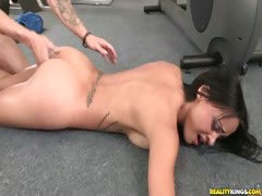 Kimberlykendall gets her pussy rammed hard from behind.