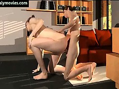 Hot animated wife getting screwed