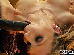 Big ass white babe loves black cock in her ass