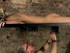 Gay clip of Master Kane has a fresh toy, a metal sofa frame