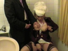 Depraved Lady Masturbate In Toilet Fully Clothed Blowjop